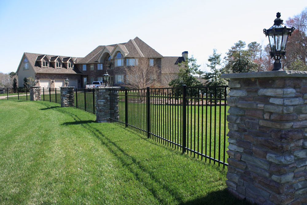 Aluminum Fence in Backyard - Fence Contractors in Baltimore County, Maryland. Excel Fencing