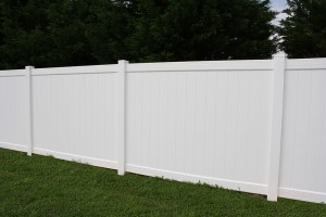 White Vinyl Fence - Baltimore County, Maryland