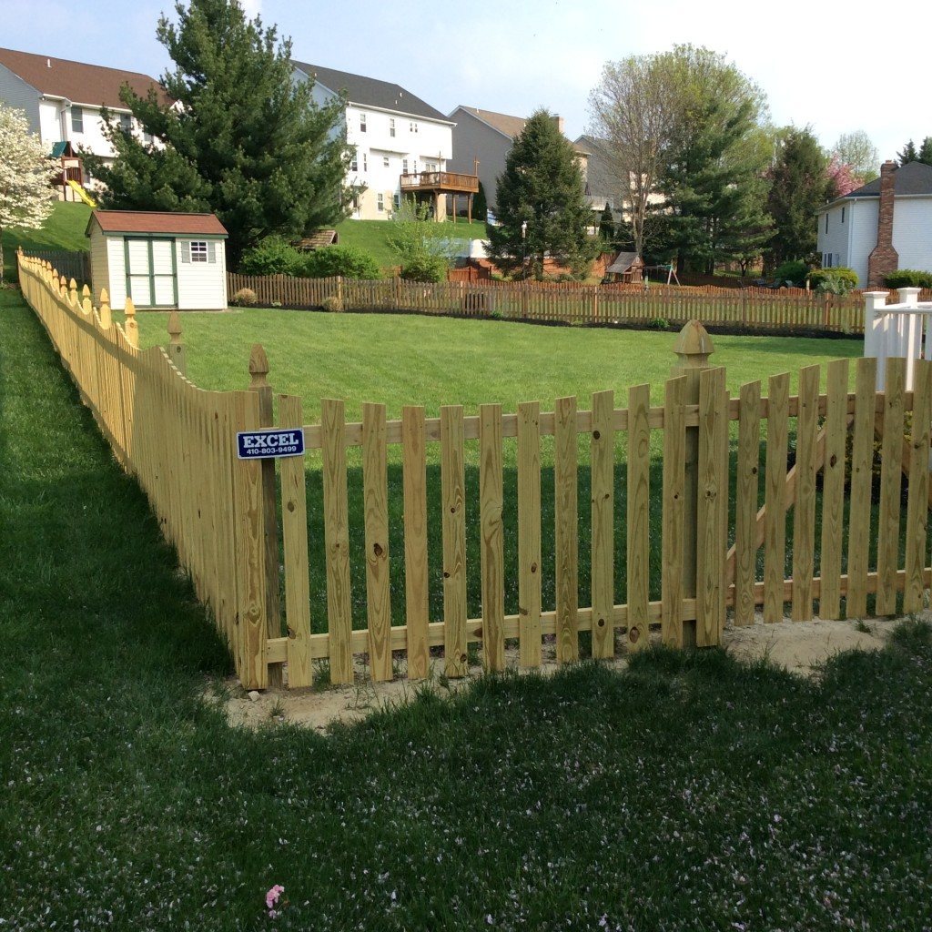 Wooden Fencing in Yard - Fence Company Baltimore County, MD. Excel Fencing & Decking
