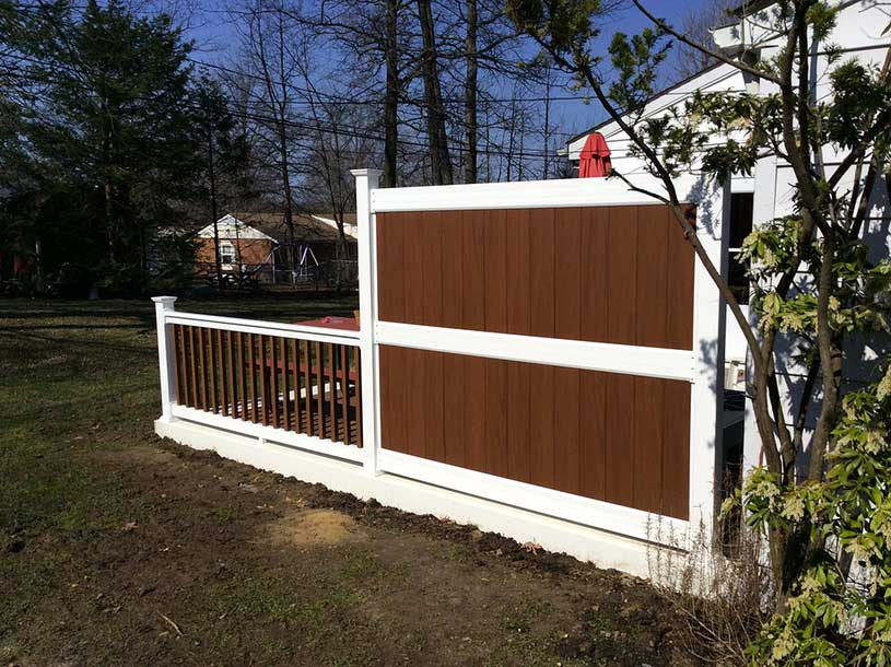 Rear Patio Fence - Fence Companies Baltimore County, Maryland. Excel Fencing & Decking